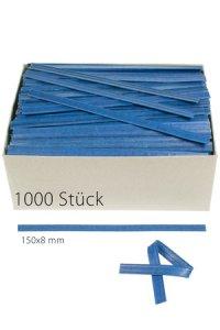 Clipbandverschlüsse 150 x 8 mm blau, 1000 Stück