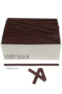 Clipbandverschlüsse 150 x 8 mm braun, 1000 Stück