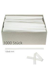 Clipbandverschlüsse 130 x 8 mm weiß, 1000 Stück