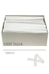 Clipbandverschlüsse 150 x 8 mm weiß, 1000 Stück