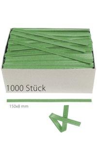 Clipbandverschlüsse 150 x 8 mm grün, 1000 Stück
