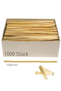 Clipbandverschlüsse 150 x 8 mm gold, 1000 Stück
