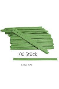 Clipbandverschlüsse 130 x 8 mm grün, 100 Stück
