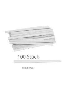 Clipbandverschlüsse 150 x 8 mm weiß, 100 Stück