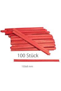 Clipbandverschlüsse 150 x 8 mm rot, 100 Stück