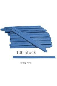 Clipbandverschlüsse 150 x 8 mm blau, 100 Stück