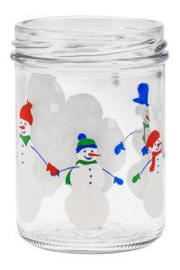 Sturzglas 219 ml Schneemann-Familie