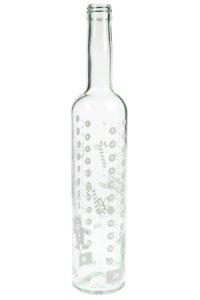 Adventskalender-Flasche 500 ml weiß