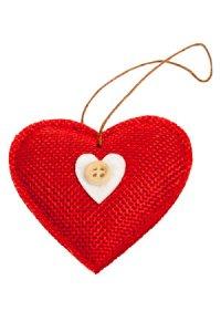 Anhänger Herz aus Stoff