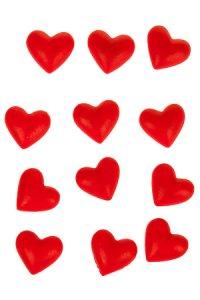 Deko-Aufkleber Herz aus Steinharz - 12er Pack