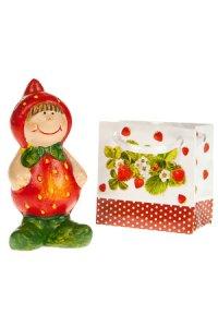 Deko-Figur Erdbeerkind aus Keramik