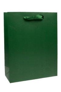 Geschenktüte dunkelgrün, 23 x 18 cm