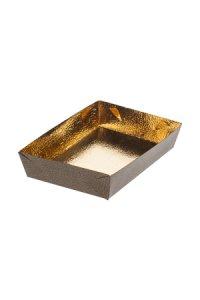 Schale 190 x 130 x 35 mm gold/marone