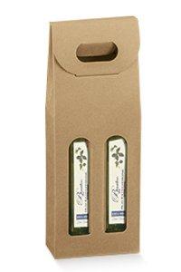 Flaschenkarton 2er 110 x 55 x 305 mm natur
