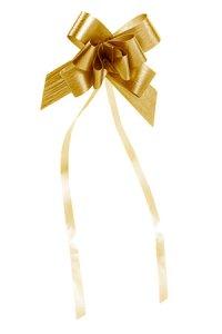 Ziehschleife Paperlook metallic ca. 50 mm, gold, 10 Stück