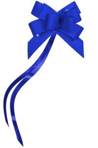 Ziehschleife Paperlook ca. 50 mm, blau, 10 Stück