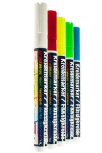 Kreidemarker farbig, 5er Set
