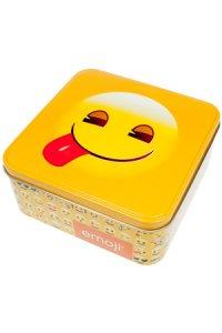 Metalldose 'Lecker-Emoji' quadratisch 15,5 cm
