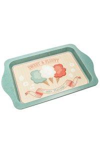 Tablett Sweet & Fluffy 25 x 16 cm seegrün