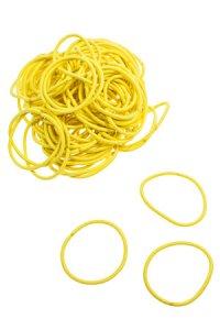 Elastische Schlaufen 40 mm, gelb, 100 Stück