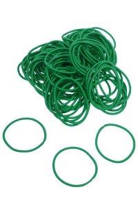 Elastische Schlaufen 40 mm, grün, 100 Stück