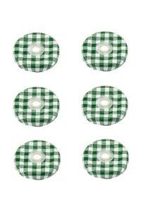 TO 43 Trinkhalmdeckel grün kariert, 6 Stück
