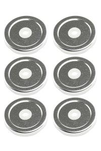 TO 53 Trinkhalmdeckel silber, 6 Stück