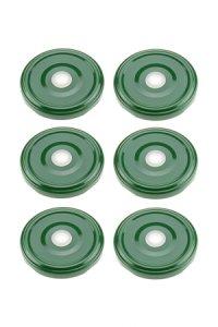 TO 63 Trinkhalmdeckel grün, 6 Stück