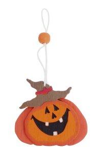 Holzanhänger Halloweenkürbis