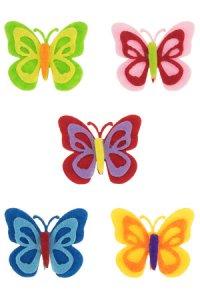 Filzaufkleber Schmetterlinge, 5er Set