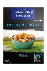 Würfel-Rohrzucker Fairtrade braun, 500 g