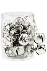 Metallanhänger Glöckchen silber, 20 Stück