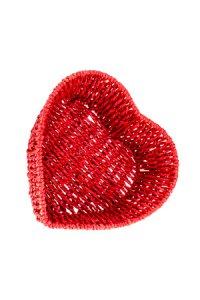 Herzschale rot, 18 x 6,5 cm