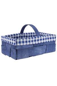 Spankorb mit Stoffbezug 27 x 18 x 10 cm blau