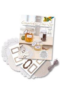 Einmachglas-Deko-Set beige/natur