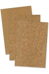 Korkpapier selbstklebend, 20 x 30 cm, 3 Blatt