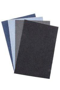 Jeansstoff, selbstklebend, 27 x 17 cm, 4 Blatt
