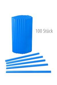 Trinkhalm fest 14 cm Ø 7,7 mm blau, 100 Stück