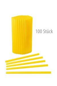 Trinkhalm wiederverwendbar 14 cm, Ø 7,7 mm gelb, 100 Stück