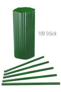 Trinkhalm wiederverwendbar 19 cm, Ø 7,7 mm grün, 100 Stück