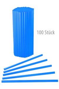 Trinkhalm wiederverwendbar 19 cm, Ø 7,7 mm blau, 100 Stück