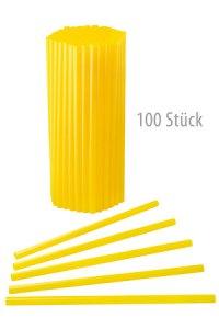 Trinkhalm wiederverwendbar 19 cm, Ø 7,7 mm gelb, 100 Stück
