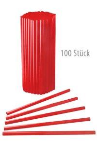Trinkhalm wiederverwendbar 19 cm, Ø 7,7 mm rot, 100 Stück