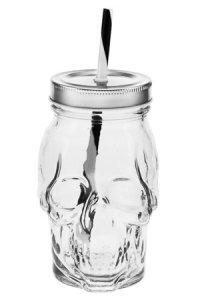 Trinkhalmglas Totenkopf 500 ml