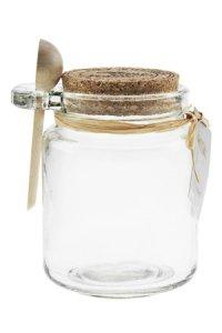 Korkenglas mit Löffel 200 ml