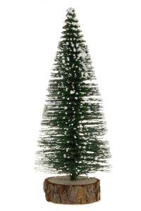 Deko-Tannenbaum mit Holzfuß, 10 cm