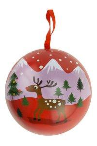 Weihnachtskugel zum Befüllen, rot