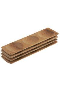 Bambusschälchen, rechteckig, 4er Pack