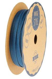 Stoffband 20 m, 3 mm jeansblau