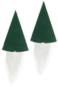 Flaschendeko Weihnachtsmütze, grün, 2 Stück